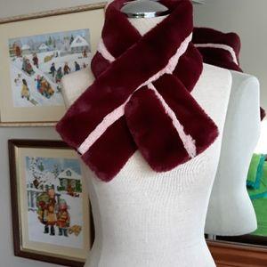Antropologie faux fur scarf